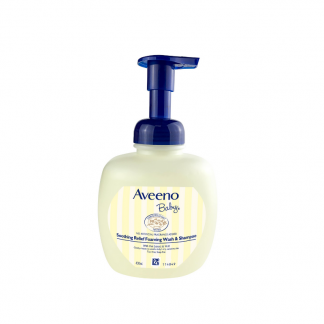 Aveeno soothing relief foaming shampoo wash