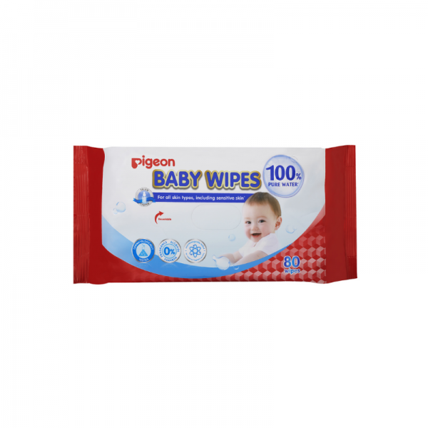 Pigeon 100 pure water wipes