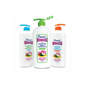 Three bottles of pureen liquid cleanser